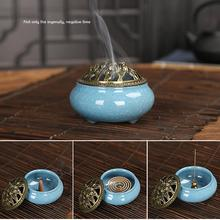 1pcs fashion new Vintage Ceramic Incense Burner Holder Meditation Buddhist Zen Censer Home Decor Exquisite Durable Table