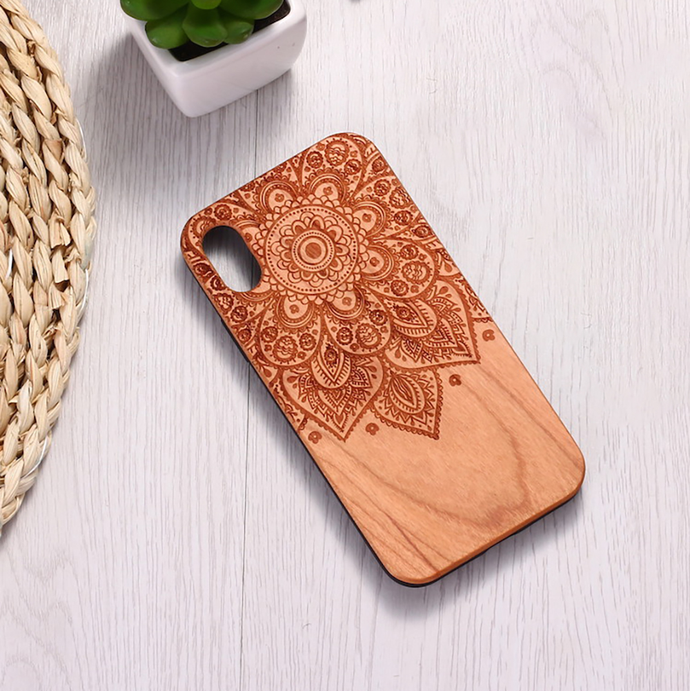Vintage Henna Mandala Floral Engraved Wood <font><b>Phone</b></font> <font><b>Case</b></font> Coque Funda ForFor <font><b>SAMSUNG</b></font> Galaxy S8 S9 S10 Plus Note 8 9 10 Pro image