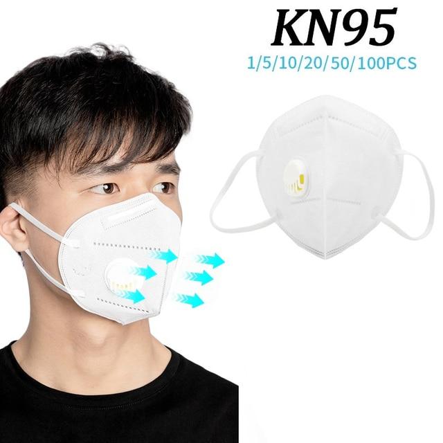 100pcs KN95 Masks Protective Dust Face Mask Flu Pm2.5 Filter Mask N95 Mask Respirator Antivirus Mask as KF94 FFP2 FFP3 4