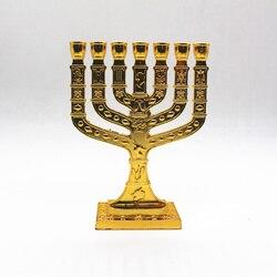 Żydowska menora świeczniki religie świeczniki Hanukkah świeczniki 7 świecznik oddziału|Świeczniki|   -