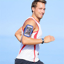 Fashion Outdoor Comfortable Sweat Resistant Waterproof Fluorescence  Sport Arm Band Case Touchscreen Phone Bag Running Gym