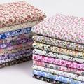 Маленькая винтажная цветочная ткань, хлопок, свобода, яркий цветочный принт для шитья одежды, сделай сам, ручная работа, полметра