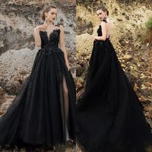 Пикантные черные сапоги в готическом стиле свадебные платья