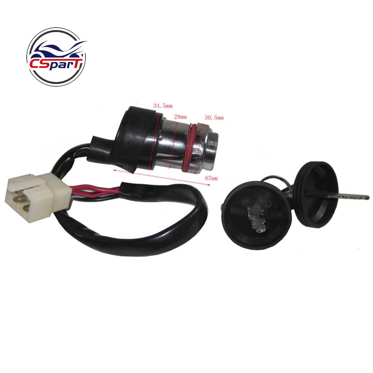 Ignition Key Switch Lock 4 Wires For Linhai 250 250cc 260 260cc 300 300cc 400 400cc ATV UTV