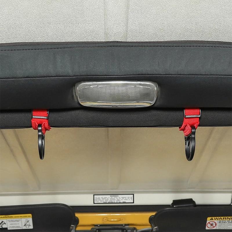 Car Interior Organizer For Jeep Wrangler TJ JK JL Adjustable Storage Coat Hook Clothes Hanger Rack Clothing Hat Coat Stand Hooks