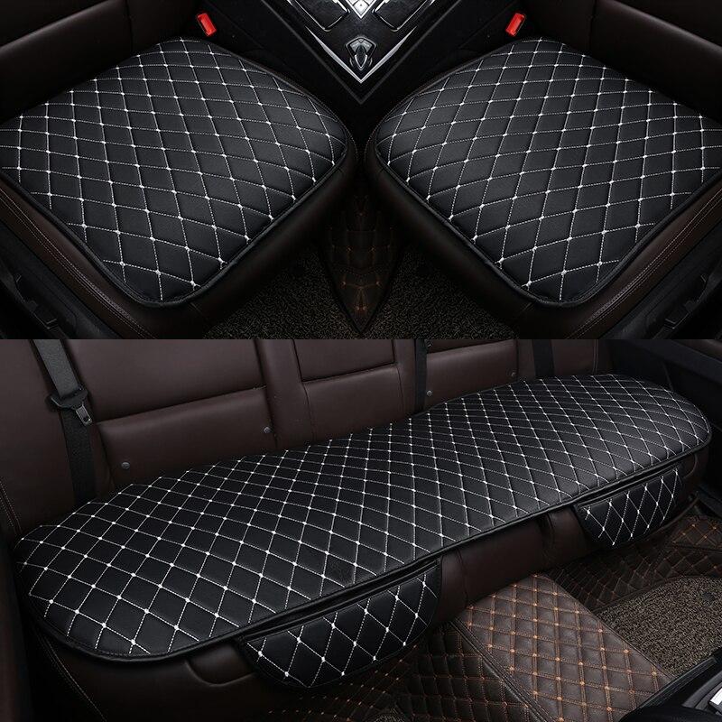 עור אוניברסלי רכב מושב כיסוי כרית קדמי אחורי מושב אחורי מושב כיסוי אוטומטי כיסא מושב מגן מחצלת כרית אביזרי פנים