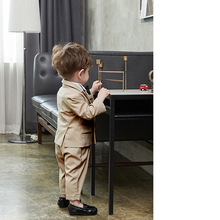Boys Suits for Weddings Kid Khaki Blazers little Clothes Sets Prom Childrens Blazer Suit Boy Clothing