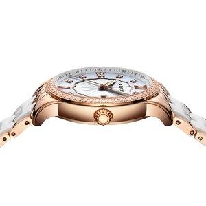 Image 2 - Reloj de Mujer Atieno, regalo de vacaciones, pulsera de cerámica de lujo, reloj de pulsera Para Mujer, Relojes de cuarzo Para Mujer