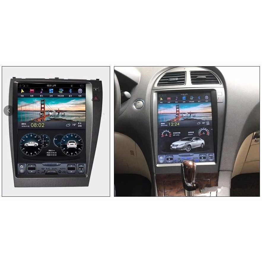 ChoGath 12.1 Inch Car Multimedia Player Vertical Screen Android 7.1 Car Radio GPS Navigation For Lexus  ES With Canbus