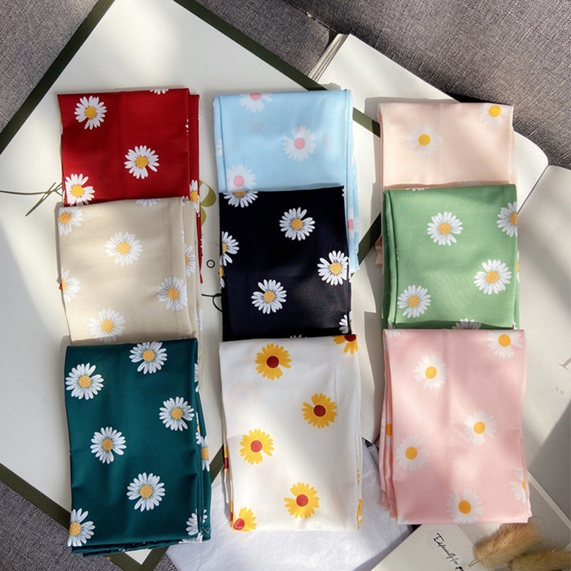 Summer Floral Long Arm Sleeves Women Cool Ice Silk Daisy Sleeves Cuffs Mesh Sun Protection Cycling Arm Warms Driving Party