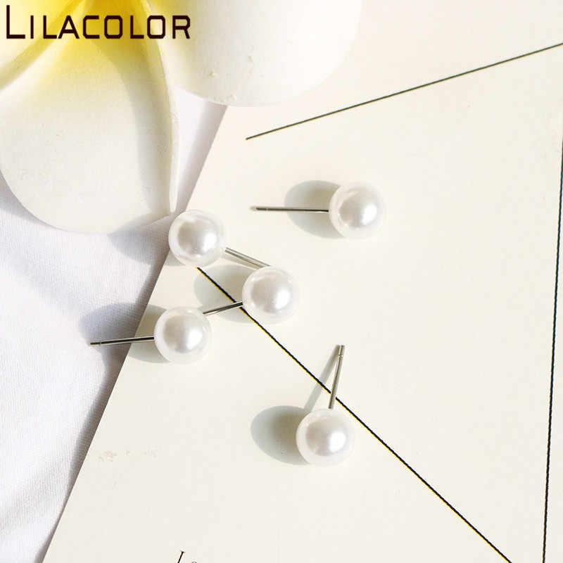Lilacolor 1 para moda imitacje pereł kolczyki wkręty damskie 2019 6 cm/8 cm akcesoria jubilerskie do uszu stadniny kolczyki dla dziewczyny prezent