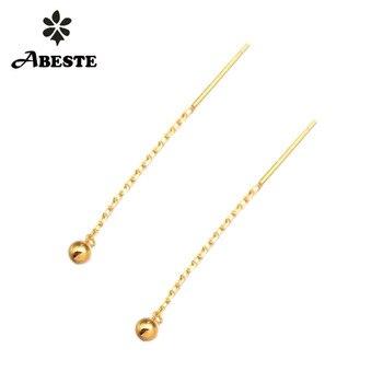 ANI 18K Solid Yellow/Rose Gold (AU750) Women Engagement Drop Earrings Customize Fashion Dangle Design Trendy Birthday Gift недорого