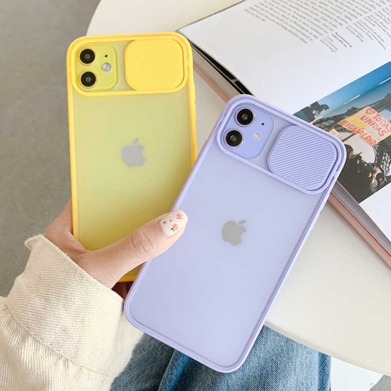 Ottwn Camera Bescherming Shockproof Phone Case Voor Iphone 11 11Pro Se X Xr Xs 6 6 S 7 8 Plus candy Kleur Clear Soft Tpu Back Cover