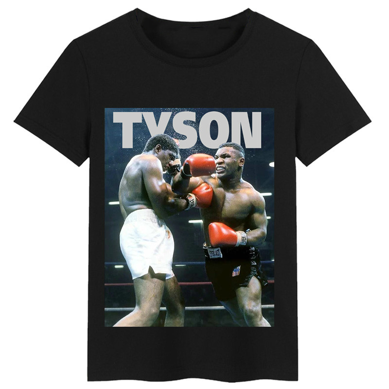 Boxing Champion Mike Tyson Memorial T-shirt Boxing T-shirt Poster Reprints Male and Female T-shirts image