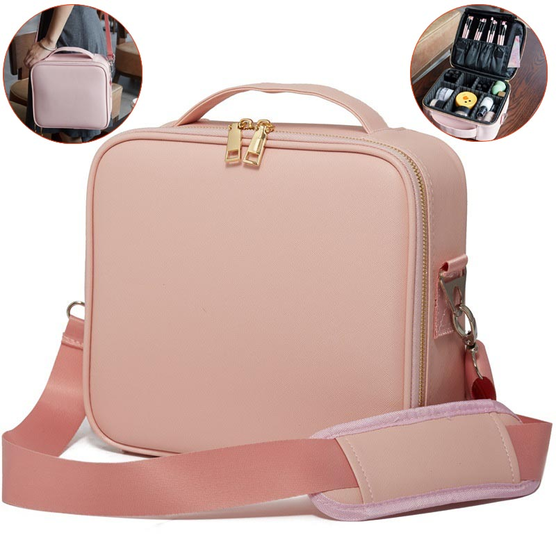 Women Fashion Cosmetic Bag Case Travel Makeup Organizer Storage Suitcase Box Cosmetics Pouch Bags Beauty Case For Beautician New