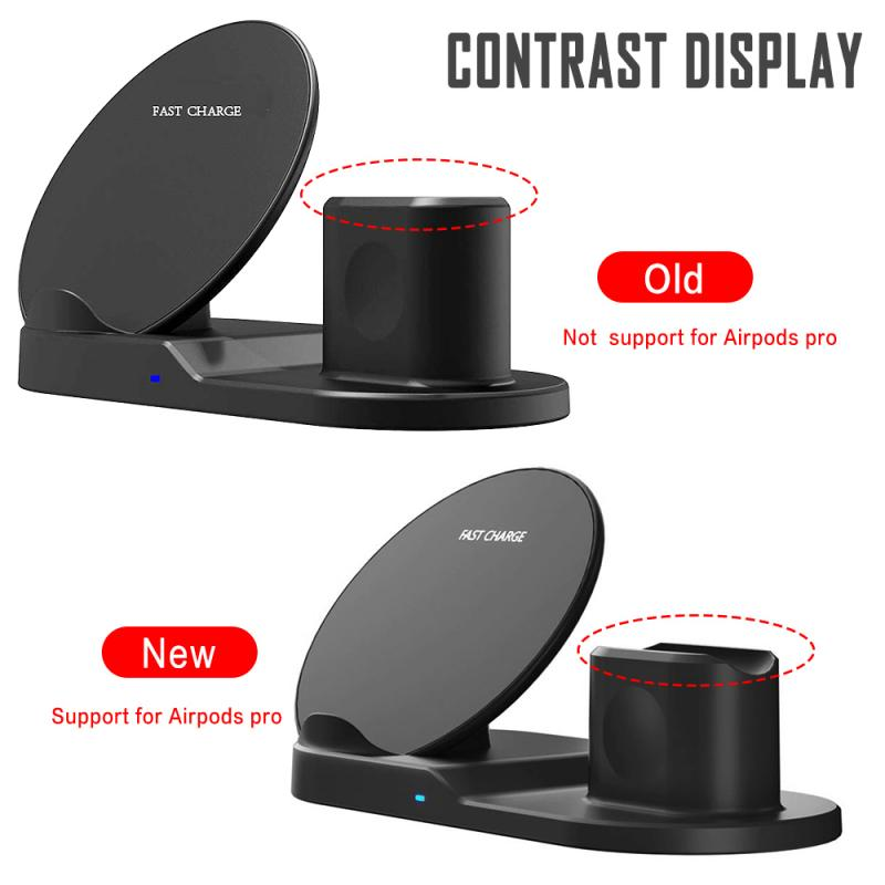 Fast Wireless Charger Dock Station Fast Charging For iPhone 11 11 Pro XR XS Max 8 for Apple Watch 2 3 4 5 For AirPods Pro 2