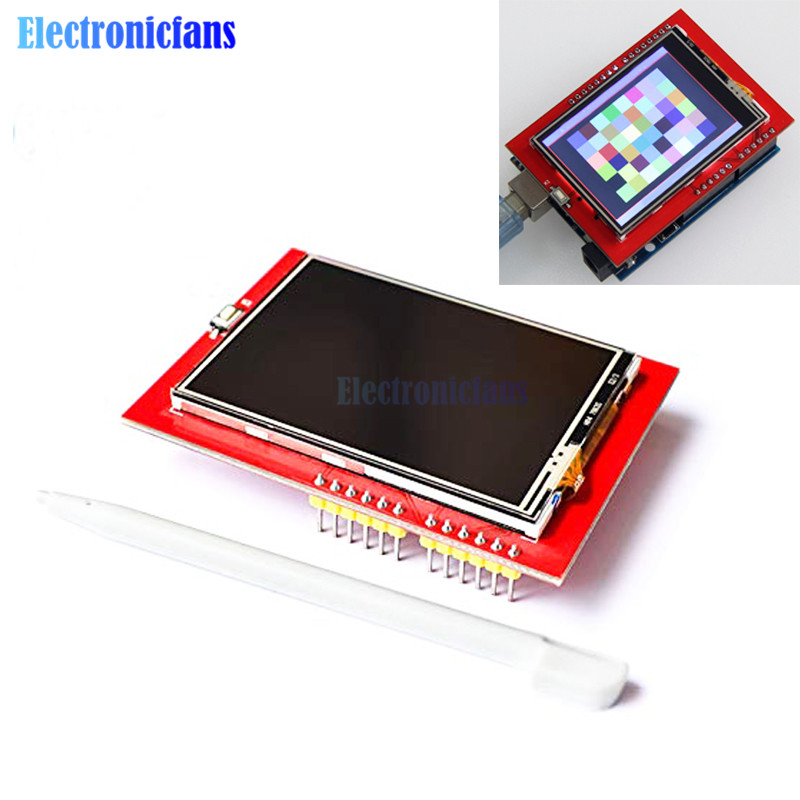 2.4 Inch TFT LCD Shield Touch Panel Display Module 320x240 Ultra-HD ILI9341 Driver For Arduino Mega2560 UNO R3 With Touch Pen