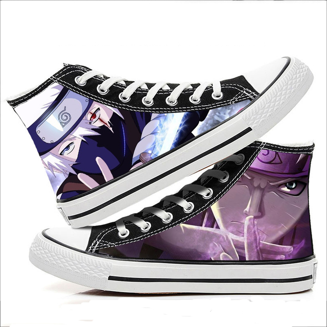 NARUTO THEMED HIGH TOP SHOES (23 VARIAN)