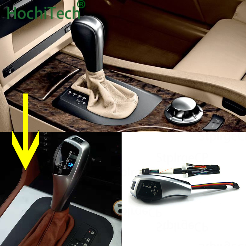 Latest in 2019 Updated Look LED Gear Shift Knob for BMW <font><b>5</b></font> Series <font><b>2004</b></font> 2005 2006 E60 Sedan Pre-LCI Pre-facelift Accessories image