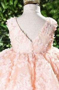 Image 4 - ちょう結び赤ちゃんのプリンセスドレス花レースのチュチュ子供のため bridemaid ドレス結婚式パーティーウエディングドレス