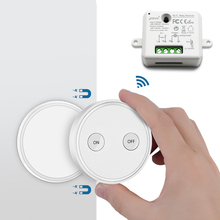Remote Control Wireless Light Switch with Tiny Relay Module 2500W Magnetic Wall or Be Portable 200m Range Easy to Install