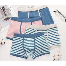 2019 new free shipping high quality boys boxer shorts panties kids striped cotton children underwear 2-16year 4pcs/lot(China)