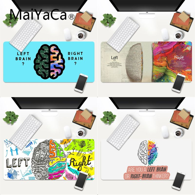 MaiYaCa Left and right brain DIY Design Pattern Game mousepad Gaming Mouse Pad Large Deak Mat 700x300mm for overwatch/cs go