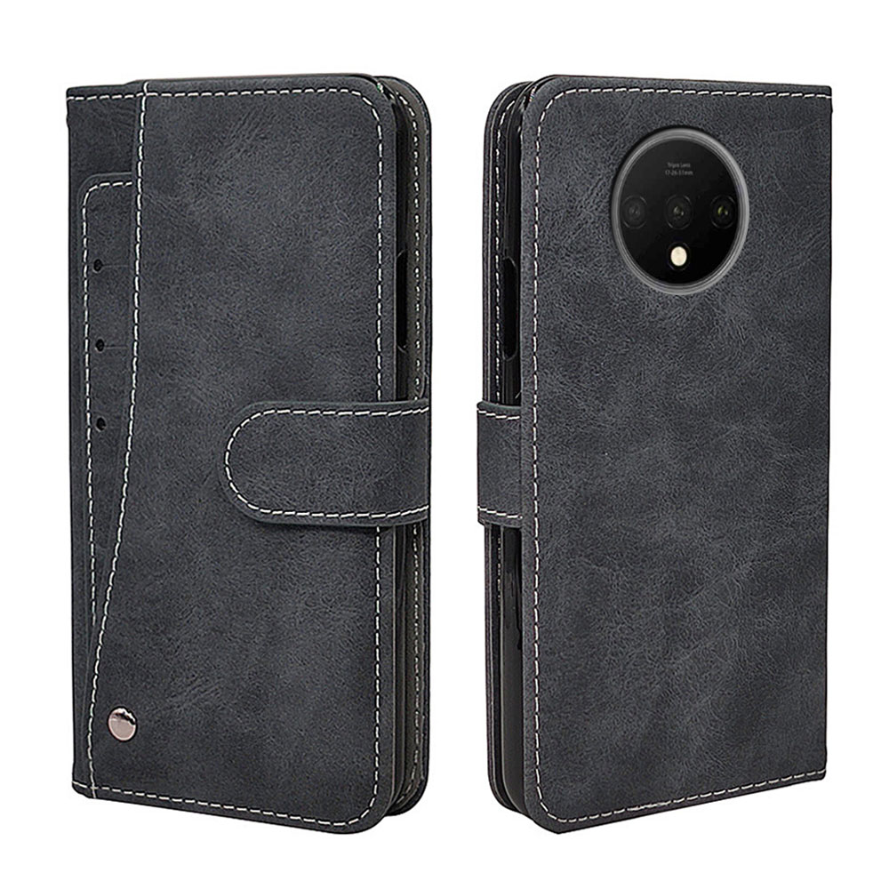 Luxury Vintage Case For OnePlus 7T Case Flip Leather Silicone Wallet TPU Business Cover For OnePlus 7T Pro Fundas Card Solts