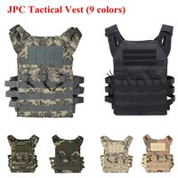 Adjustable JPC Tactical Vest Molle Vest Outdoor Hunting Airsoft Paintball Molle Vest With Chest Protective Plate Carrier Vest