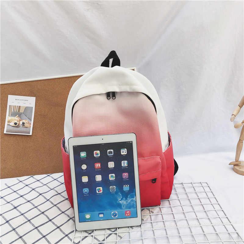 Корейская версия новый двойной рюкзак для отдыха 100 школьный рюкзак с узором для студентов простая дышащая дорожная сумка