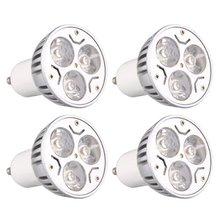 JEYL 4 шт. GU10 3 Вт 3 светодиодный Диммируемый теплый белый высокой мощности Светодиодный прожектор приспособление для прожектора