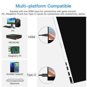 """Image 3 - Eyoyo 15.6 """"IPS 터치 모니터 1920x1080 FHD 휴대용 HDMI 유형 C 게임 모니터 HDR 디스플레이 노트북 PC 전화에 대 한 두 번째 화면"""