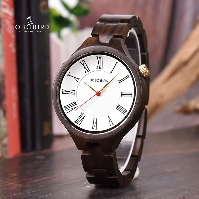 BOBO BIRD New Luxury Ladies Wood Watches Special Design Handmade Wooden Wristwatch For Women Relogio Feminino C-Q11