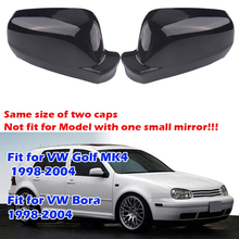 Rearview Mirror Cap, Glossy Black Wing Side Mirror Cover Housing Same Size For Golf 4, MK4, Bora,1998 2004 Car Accessories