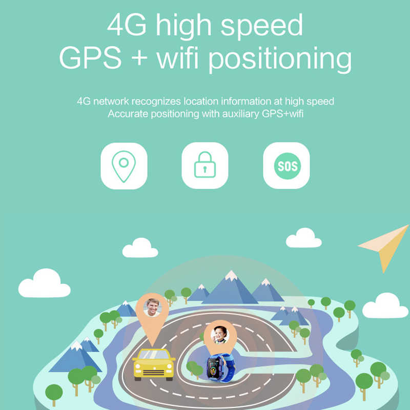 696 T19 4G Kids Smart Watch GPS+WIFI+LBS Tracker Location SOS Call HD Video Call 730mAh  Waterproof 4G Children Smart Watch