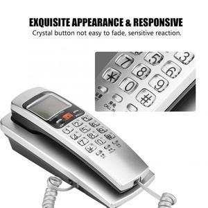Image 3 - Telefono 유선 전화 FSK/DTMF 발신자 ID 전화 유선 전화 책상 벽 마운트 유선 연장 전화 집에 넣어