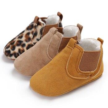 Automne bébé enfant en bas âge léopard PU cuir chaussures nouveau-né bébé fille premier marcheur baskets chaussures enfant en bas âge chaussures décontractées classiques