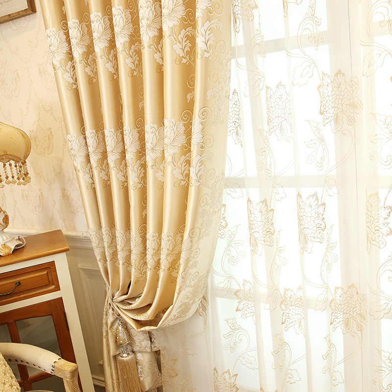 Stile Europeo Tende Per Soggiorno Sala Da Pranzo Camera Da Letto Di Lusso D Oro Tende Valance Tende Finito Di Personalizzazione Del Prodotto Curtains Aliexpress