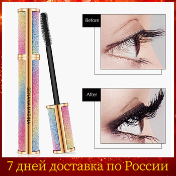 SENANA 4D Silk Fiber Lashes Thick Lengthening Mascara Long Black Lash Eyelash Extension Eye Lashes Brush Makeup Eye Cosmetics