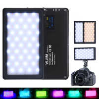VIJIM VL-2 RGB Full Color LED Video Light 2500 K-8500 K Dimbare Op Camera Vlog Fotografie Verlichting voor op Sony Nikon DSLR Camera