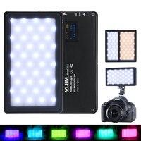 VIJIM VL 2 RGB Full Color LED Video Light 2500K 8500K Dimmable On Camera Vlog Photography Lighting for On Sony Nikon DSLR Camera