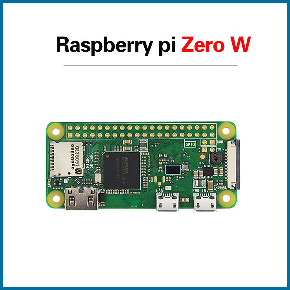 S ROBOT Raspberry Pi Zero W Wireless Pi 0 With WIFI And Bluetooth 1GHz CPU 512MB RAM Linux OS 1080P HD Video Output  RPI180
