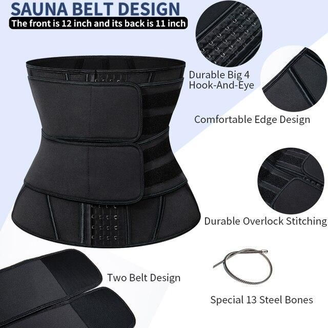 Women Neoprene Sweat Waist Trainer Corset Trimmer Belt for Women Weight Loss Waist Cincher Shaper Slimming Belt Shapwear 2