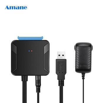 Convertidor de Cables SATA USB 0,4 de 3,0 m, macho a HDD/SSD de 2,5/3,5 pulgadas, adaptador de cable de conversión con cable