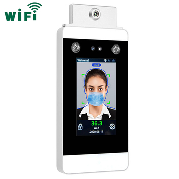 WIFI TCP/IPการวัดอุณหภูมิFacial Recognition Time Attendance And Access Control System
