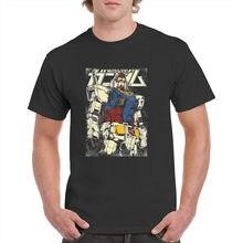 Gundam Print T-shirt Men's Summer Casual Cotton Short Sleeve T Shirt Harajuku Streetwea