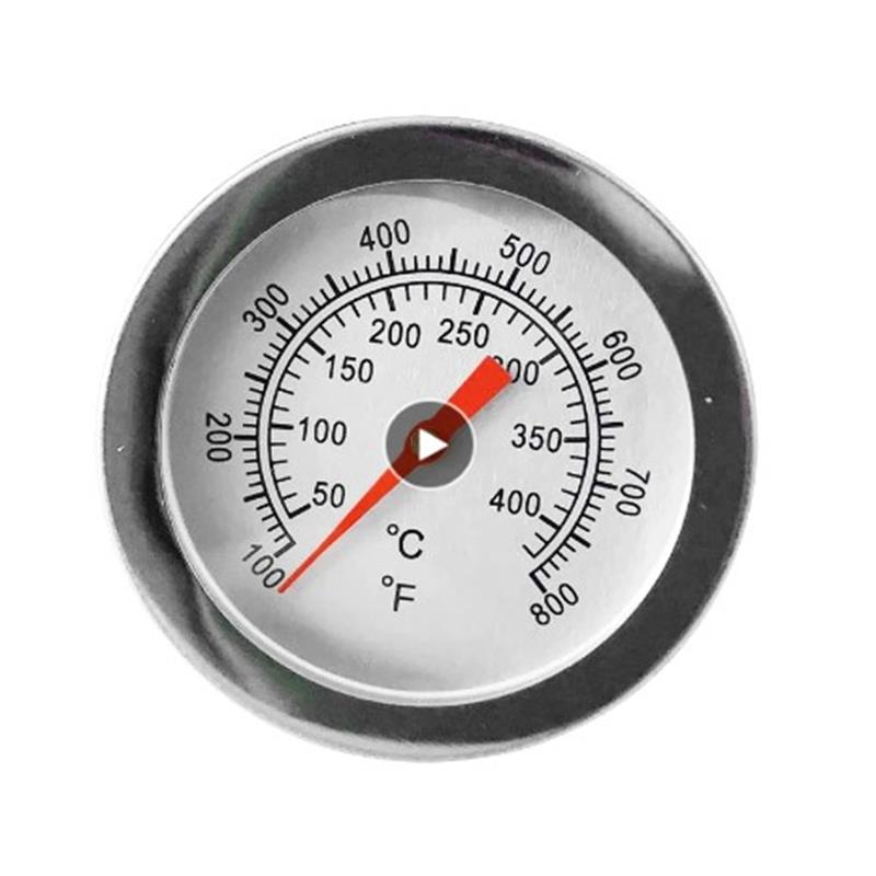 Stainless Steel BBQ Smoker Grill Temperature Gauge Barbecue Thermometer Cooking Food Probe Household Grill Oven Kitchen Tools