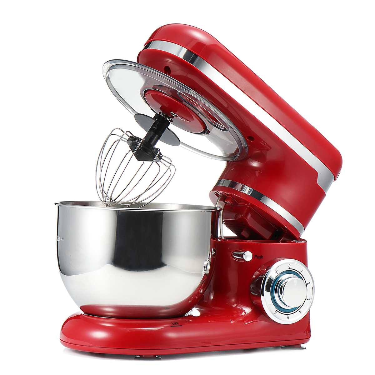 1200W 4L Stainless Steel Bowl Mixer Kitchen Blenders Mixer Cream Eggs Whisk Cake Dough Maker Bread Mixer Machine Food Processor