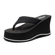 Женские Модные вьетнамки на высоком каблуке; Пляжные Нескользящие