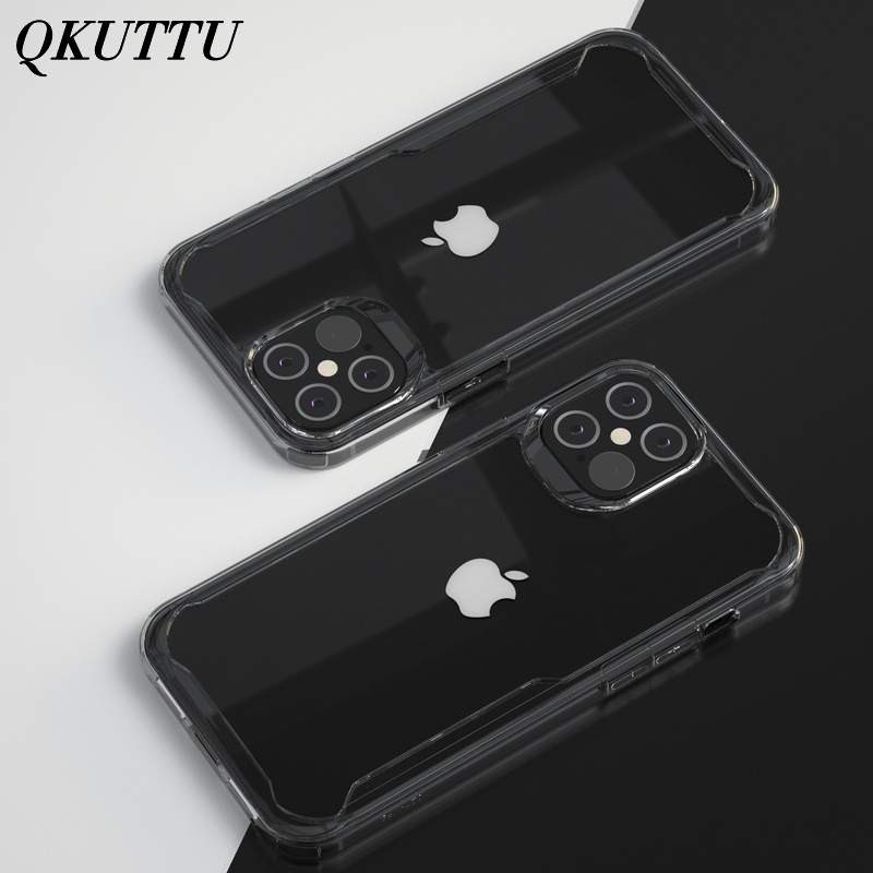 Phone case For iPhone 12 Case Cover HD Transparent Soft Silicone Clear Shockproof Back Case for iPhone 12 Phone case Accessories